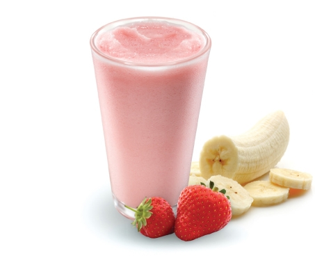 Jordbær og banan smoothie